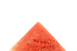slice of watermelon with a triangle shaped