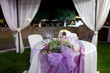 canvas print picture - Tavolo degli sposi