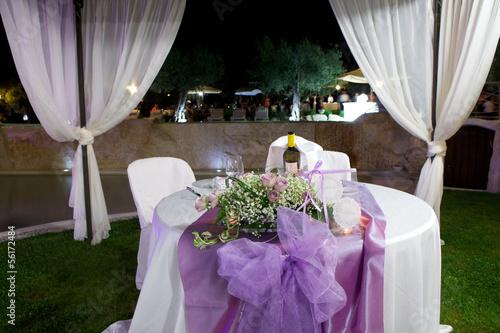 canvas print picture Tavolo degli sposi