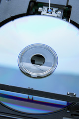 Laser disc inserted into dvd-drive