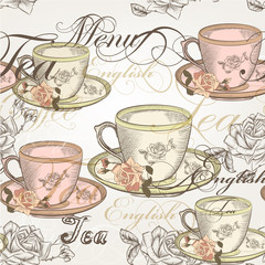14)	Seamless vector wallpaper design in vintage style