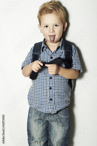 funny little kid.fashion children.emotion.like a Einstein