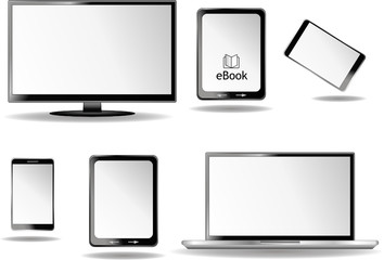 Tv Laptop Ebook Reader Smartphone Set