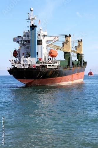 General cargo ship aground