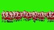 Santa Claus Crowd Dacing, Merry Christmas Shape, Green Screen