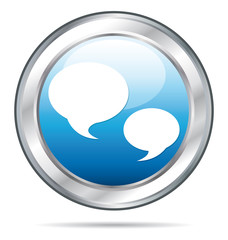 Blue forum or chat button.