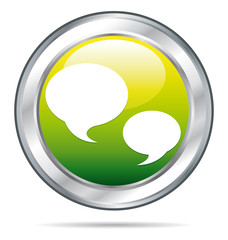 Green forum or chat button.