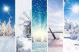 Winterlandschaft Collage