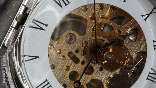 pocket watch and the movement mechanism