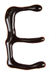 Letter of alphabet made from chocolate syrup, isolated on