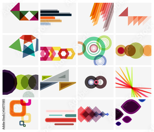 Modern geometrical art background templates