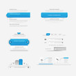 Website template design menu navigation elements with icons