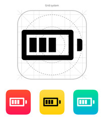 Battery charge icon. Vector illustration.