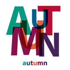 Vector Autumn. Broken text
