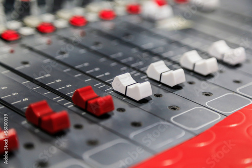 Radio mixer panel
