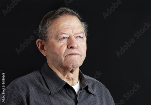 Sad senior man