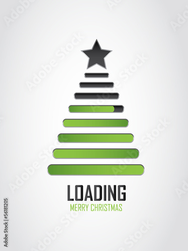 creative Christmas loading icon