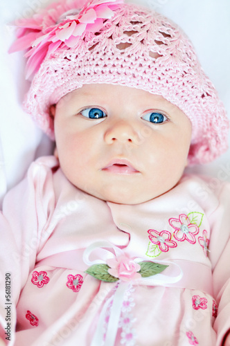 funny newborn girl