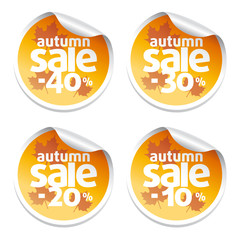 Set with  sale  autumn stickers
