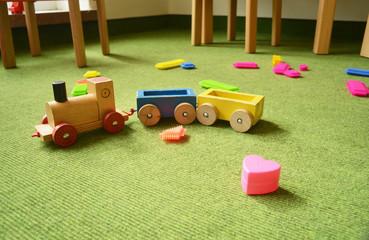 Spielzimmer mit Teppich