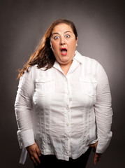 woman with surprise expression