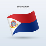 Sint Maarten flag waving form.