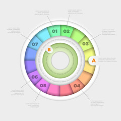 Colorful wheel infographic