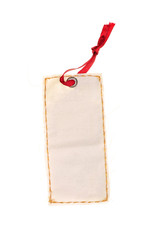 Blank label price gift tag