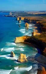 Aerial view on Twelve Apostles, Great Ocean Road, Australia.