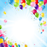 Fototapety Happy birthday background with balloons