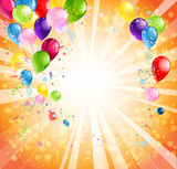 Fototapety Bright holiday background with balloons