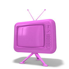 TV Rosa lackiert
