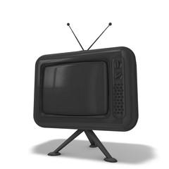 TV Grau lackiert