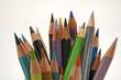 alte Buntstifte aus Holz