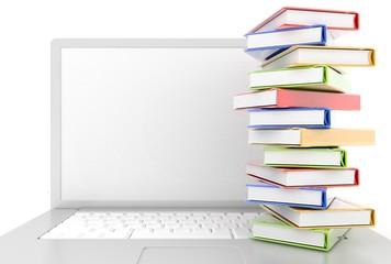 books,laptop