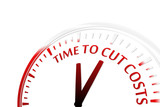 Time to cut costs clock vector illustration