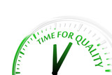 Time for quality clock vector illustration