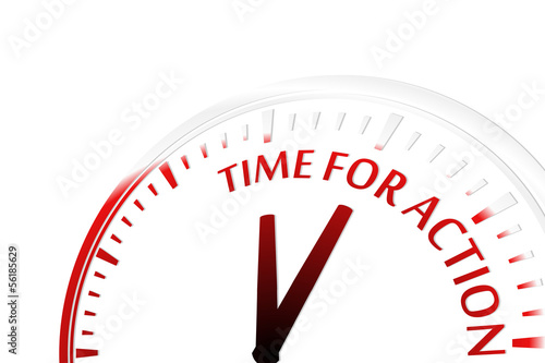 Time for action clock vector illustration