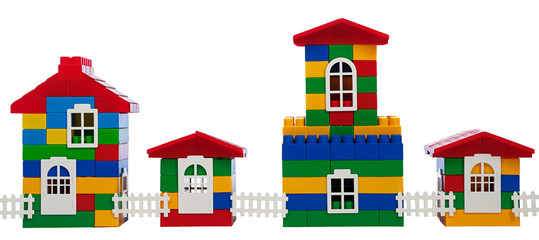 toy colorful  houses