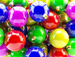 Colorful Christmas balls background for Christmas ornament