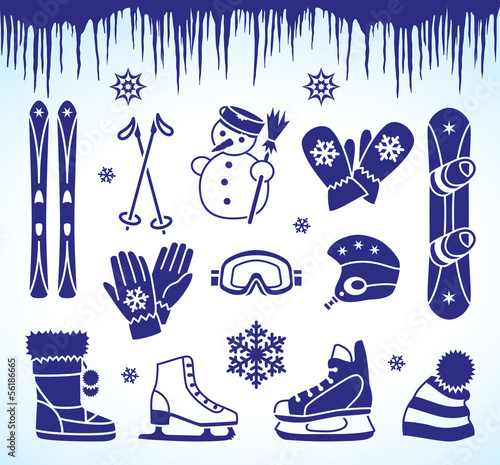 Winter icons