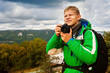 Young man outdoor photographer