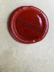 verified wax stamp