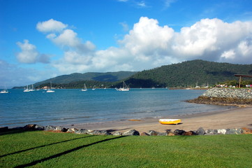 Airlie beach waterfront, Queensland, Australia.