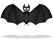 frightened bat