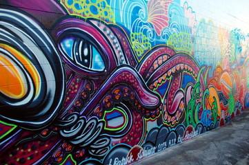 Street art in Australia, graffiti wall in Airlie Beach