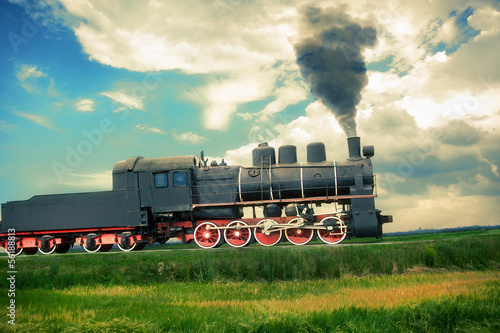 vintage steam train - 56188813