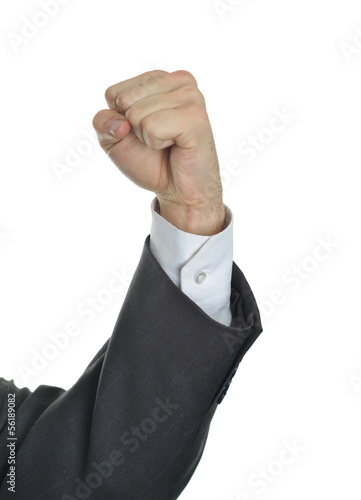 Executive hand fist hard