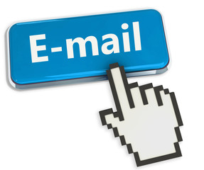 Blue button E-MAIL with hand cursor