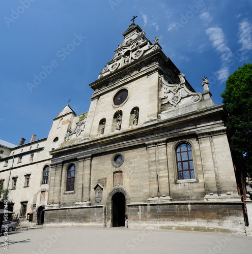 Bernardine church and monastery in Lviv,Western Ukraine